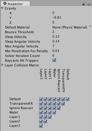 Unity - Physics Manager