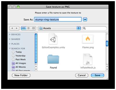 Unity Script Reference – EditorUtility SaveFilePanelInProject