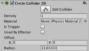 Unity - Manual: Circle Collider 2D