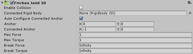 Unity - Manual: Friction Joint 2D