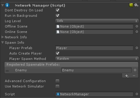 Unity - Manual: Using the NetworkManager